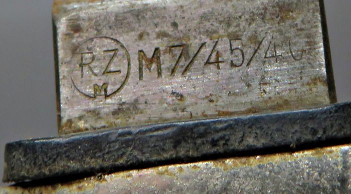 Фото: Нацистский нож с заводским номером